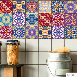 $enCountryForm.capitalKeyWord NZ - 100*20cm DIY Mosaic Wall Tiles Stickers Waist Line Wall Sticker Kitchen Adhesive Bathroom Toilet Waterproof PVC Wallpaper