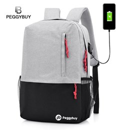 China USB Charging Backpack Men Women Laptop Computer Bag Antitheft Backpack School Canvas Business Bags for Teenagers Male supplier male canvas bags suppliers