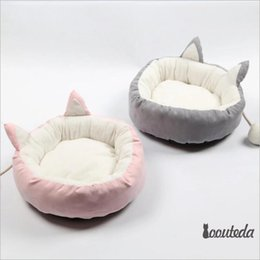 gray sofa beds Canada - Soft Autumn Winter Pet Cat Litter for Puppy Rabbit Small Dog Beds Nest Sleeping Bedding Lounger Sofa Mattress Kennel