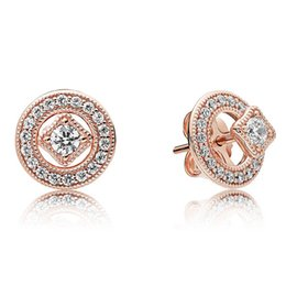 $enCountryForm.capitalKeyWord UK - Authentic 925 Sterling Silver Earring Rose Vintage Allure Studs Earring With Crystal For Women Wedding Gift Europe Jewelry