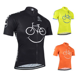 Discount bx - BXIO Brand Breathable Cycling Jersey Smiling Expression Bicycle Jersey Three Kinds Of Color Sales Bike Jersey Summer Rop