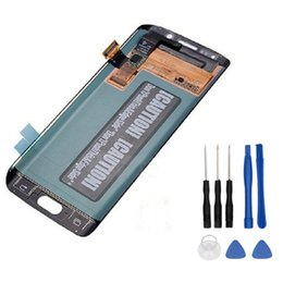 China 100% Super AMOLED LCD for GALAXY S6 Edge G925 G925F G925 Display Touch Screen Digitizer Assembly Replacement+Tools supplier galaxy s6 lcd display suppliers
