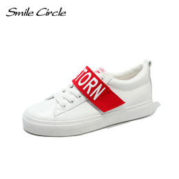 Smile Circle 2018 Spring Summer White Sneakers Women Ultra-soft Lace-up Casual  Shoes Women Flat Platform Shoes Girl A4588 0e5cdf755