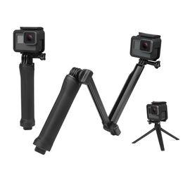 Ingrosso Impermeabile monopiede selfie bastone per Gopro Hero 5 4 3 sessione ek7000 Xiaomi Yi 4K fotocamera treppiede Go pro accessorio