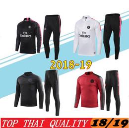 7303d3fa7 Psg adult Soccer tracksuit set 2018-19 Paris tracksuits 18 19 MBAPPE CAVANI  LUCAS HOME Football jacket kit Training suit Football Chándal