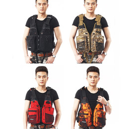 Fish vests online shopping - Multi Pocket Adult Life Jacket Camouflage Offshore Angling Fishing Vest Quick Dry Mesh Outdoor Water Proof Anti Wear Waistcoat jt jj