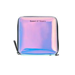 Discount phone holder lanyard - 2018 Women Wallets Geometry Luminous Clutch Female Zipper Phone Bag High Capacity Women Coin Purse Holders with Lanyards