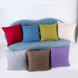 car sofa couch 2019 - Cotton Linen Decorative Throw Pillow Covers Classical Square Solid Color Pillow Case Cushion Cover cases for Sofa Couch