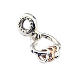 785f271a9174 Día de la madre regalo 925 plata esterlina del grano del corazón destaca  colgar el encanto Fit mujeres Pandora pulsera brazalete DIY joyería