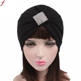 60e62550d14 2018 Fashion Women Turban Hat Scarf Beanie Ladies Cancer Chemo Hat Beanie  Scarf Turban Head Wrap Cap