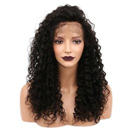 Discount styling natural black hair - Z&F curly lace frontal wig black color 24inch lace front wigs baby hair long curly lace wig natural fashion style for la