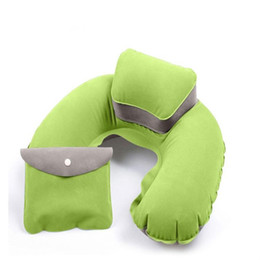 travels pillows Australia - U Shape neck Pillow Neck Support Head Rest Soft FOR car Travel Outdoor Office Plane Hotel Flight Pillow + Pouch car styling