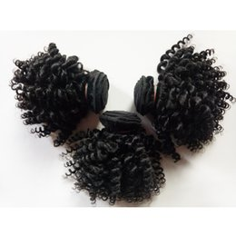 $enCountryForm.capitalKeyWord Australia - Factory wholesale and retail Brazilian Human Hair Natural black 1# 1B# Kinky Curly8-12inch hair Indian European remy hair 6pc lot 300g lot