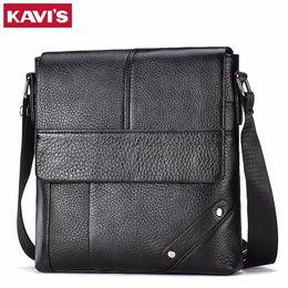 $enCountryForm.capitalKeyWord Canada - KAVIS Messenger Bag Men Genuine Leather Shoulder Crossbody Handbag Bolsas Sac Sling Chest For Briefcase Male Small and Designer
