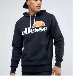 Wholesale Men Hip Hop Hoodies Ellesse Letter Printed Pullover Winter Autumn Long Sleeve Fashion Hoodie Black Gray Sweatshirts