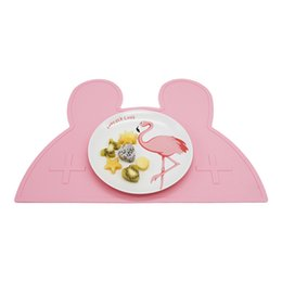 Discount mat rabbit - Cute Rabbit shape Silicone Tableware Mats Heat Resistent Kid Placemat Table Decoration Kitchen Gadgets Accessories Suppl