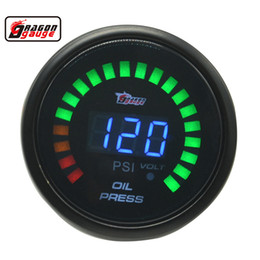 $enCountryForm.capitalKeyWord NZ - Dragon gauge 52mm Digital Smoked Black Shell Car Oil Pressure Gaug Meter 0-120 Psi And Volt Gauge With Sensor
