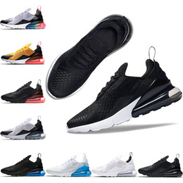 b367092f52fb Lees shoe online shopping - 270 Oreo Men Women Running Shoes BE TRUE Triple  Black White