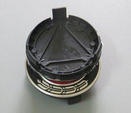 Vente en gros 100pcs 75mm 3pin bleu foncé plein noir centre de roue de voiture moyeu Caps Cap capuchon badge emblème pour CLA CLS A1714000025 accessoires de voiture