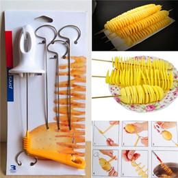 Tornado Cutter NZ - Hot Sale Tornado Potato Spiral Cutter Manual Slicer Spiral French Fry Cutter Potato Tower Making Twist Shredder Kitchen Supplies