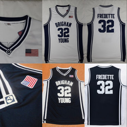 fd109cf69f6 #32 Jimmer Fredette Brigham Young BYU Cougars College University Basketball  Jerseys All Stiched IN STOCK Free Shipping