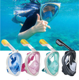 Black Swimming Toys Australia - Full Face Snorkeling Masks Panoramic View Anti-fog Anti-Leak Swimming Snorkel Scuba Underwater Diving Mask GoPro Compatible