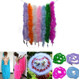 Turkey Feather Boas UK - 2 Meters Fluffy Feather Boa Super Quality Marabou Feather Boa For Party Costumes Shawl Turkey Feather Boa