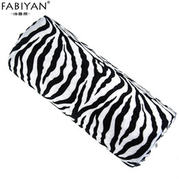 nail cushion pillow NZ - Professional New Zebra Soft Stripe Design Hand Rest Holder Cushion Pillow Nails Nail Art Manicure Tool Half Column