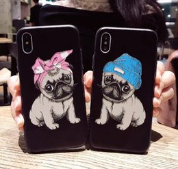 $enCountryForm.capitalKeyWord Canada - For Iphone 8 Phone Cases Super 3D Hat Puppy Dog Embossed Painting TPU+PC Cell Phone Case For Iphone X 6 7 8 Plus