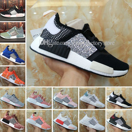 8f4904061 NMD R1 Primeknit Tri color Pink Black Triple OG Running sports Shoes Nmds  Runner Primeknit Sneakers Classic White Casual Shoes Sequins 36-40