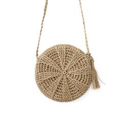$enCountryForm.capitalKeyWord Australia - Women Straw Bags Bohemian Rattan Female Beach Handbag Circle Lady Weave Messenger Bag Handmade Round Kintted Crossbody SS3114