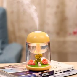 Micro Oil Australia - Micro Landscape Air Humidifier for Baby Home Office Creative Gift Essential Oil Aroma Diffuser with Changing Led Light