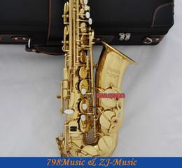 e saxophone 2019 - Gold Lacquer Eb Alto Saxophone High F# Key-Pearl Bottons discount e saxophone