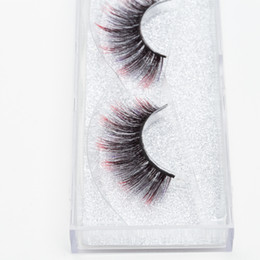 $enCountryForm.capitalKeyWord NZ - Seashine Best selling strip silk colorful eyelash qingdao factory 3d colorful silk lashes false eyelashes epacket free shipping
