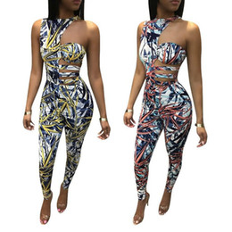 7818dd3cabb Brand fashion women rompers and jumpsuits full length print bodysuit women  overalls skinny clubwear