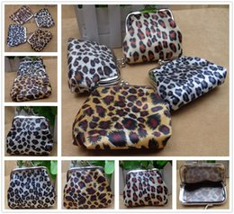 Leopard Coin NZ - Fashion leopard Print Pattern PU Wallets Holders Unisex Coin Purses Party Home Pretty Gifts Free Shipping