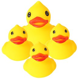 Safe toyS for babieS online shopping - 4PCS Set Adorable Baby Bath Toy Safe Rubber Yellow Ducks Funny Bathing Water Toy For Baby Kids Shower Classic Toys Gifts