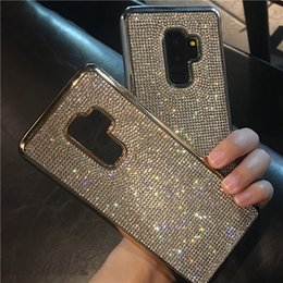 Rhinestone Note Cases Australia - Fashion Full Bling Diamond Rhinestone Electroplate Case Cover For iPhone XS Max XR X 8 7 6S Plus Samsung Galaxy Note 9 8 S10E S10 S9 S8 Plus