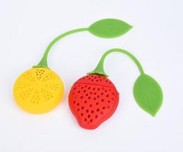 Discount tea filler - High Quality Silica Gel Tea Filter Strawberry Shape Silicon Tea Infuser Strainer Silicon Tea Filler Bag Ball Dipper