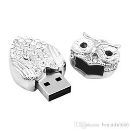 Real Flash Drive Canada - 100% Real Capacity Metal Owl USB Flash Drive Diamond Nighthawk Pendrive 32GB~ 128GB