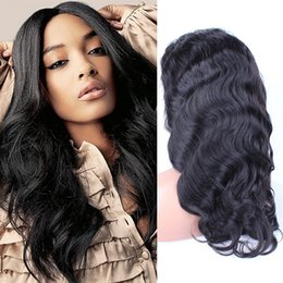 chinese bang body wave hair 2019 - Hot Sale Peruvian Hair Body Wave Lace Front Wigs Glueless Full Lace Wigs with Baby Hair Bangs Human Hair Black Women che