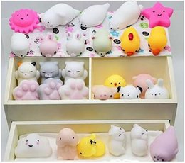 mini toys animals Canada - Antistress ball Mini Squeeze Toys Squishy cat Slow Rising doll Stretchy Animal Healing Stress Hand Fidget vent Toy Fun Gift