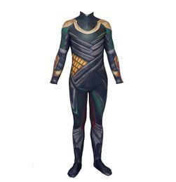 Discount loki cosplay - Cosplay Avengers 3D Printed Thor The Dark World Loki Costume Halloween Lycra Spandex Bodysuit Zentai Suit Adult for Puri