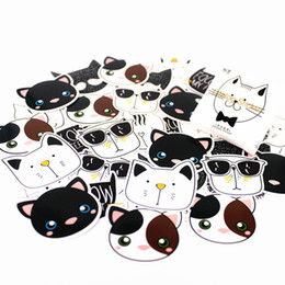 $enCountryForm.capitalKeyWord Australia - 1pcs 2018 NotDiary of Stickers Notepad Black and White Cat Paper Note Book Replaceable Stationery Gift Traveler Journal