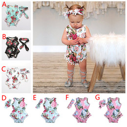 Pretty girls clothes online shopping - 7 Styles Summer Baby Girl Rompers Pretty Flower Tassel Romper Headband Baby Girls Clothing Floral Jumpsuits Kids Girl Jumpsuit Outfits