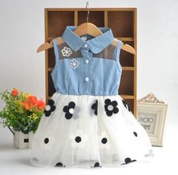 e250458ccd Ankle length denim dresses online shopping - summer girls dress baby lace  flower princess skirts kids