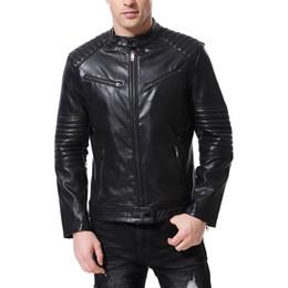 Luxury Motorcycle Jackets Australia - PU Jacket Men Luxury boutique punk mens leather clothing Kali leather motorcycle leather jacket mens designer jackets Plus Size men J181128