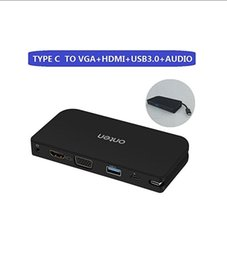 $enCountryForm.capitalKeyWord Australia - USB-C Type-C To VGA HDMI Adapter Converter USB3.0 USB C to HD TV Projector Monitor 1080P for Apple New MacBook 2015,2016