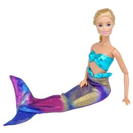 $enCountryForm.capitalKeyWord Canada - 2018 Hot Selling Fashion Handmade for Doll Toy Genuine Mermaid Tail Dress Dolls Party Dress Gown Skirt Clothes Baby Toy