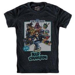 Venta al por mayor de Camiseta KID CHAMELEON Sega Mega Drive Genesis 1992 Camiseta de manga corta y talla grande